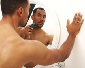 black-man-electric-shaver